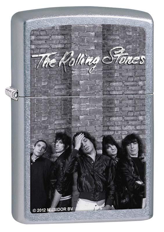 Зажигалка ZIPPO Rolling Stones®, латунь с покрытием Street Chrome™, серебриста, 36х12x56 ммЗажигалки Zippo<br>Зажигалка ZIPPO, латунь с покрытием Street Chrome™, серебриста с изображением группы Rolling Stones, матова, 36х12x56 мм<br>