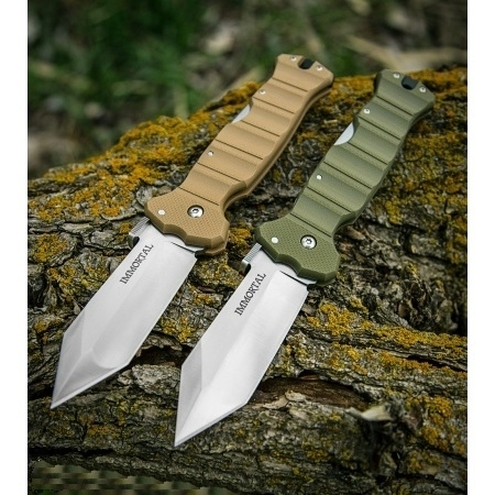 Складной нож Mike Wallace Design Immortal, Satin Finish CTS™ - XHP Micro-Melt® Alloy, OD Green Handle 10.2 см. immortal cd
