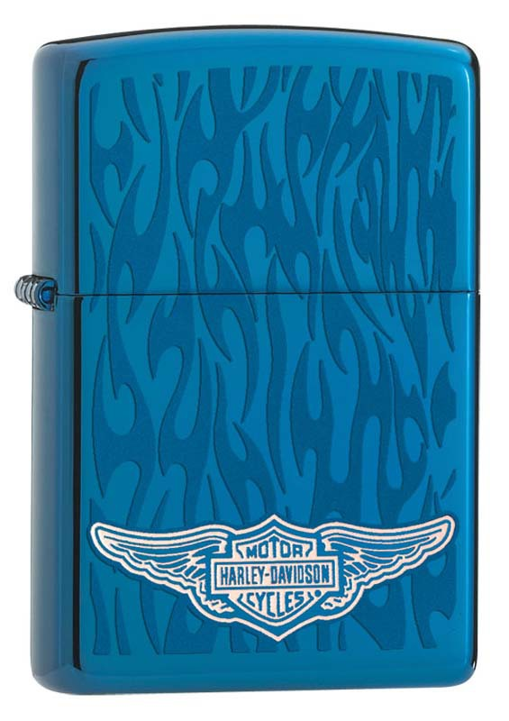 Зажигалка ZIPPO Harley-Davidson®, латунь/сталь с покрытием Sapphire™, синяя, глянцевая, 36x12x56 мм 2017 lj9000 13bb 4 11 1 spinning fishing reel surf casting reels biggest long cast reel molinete tiro longo pesca