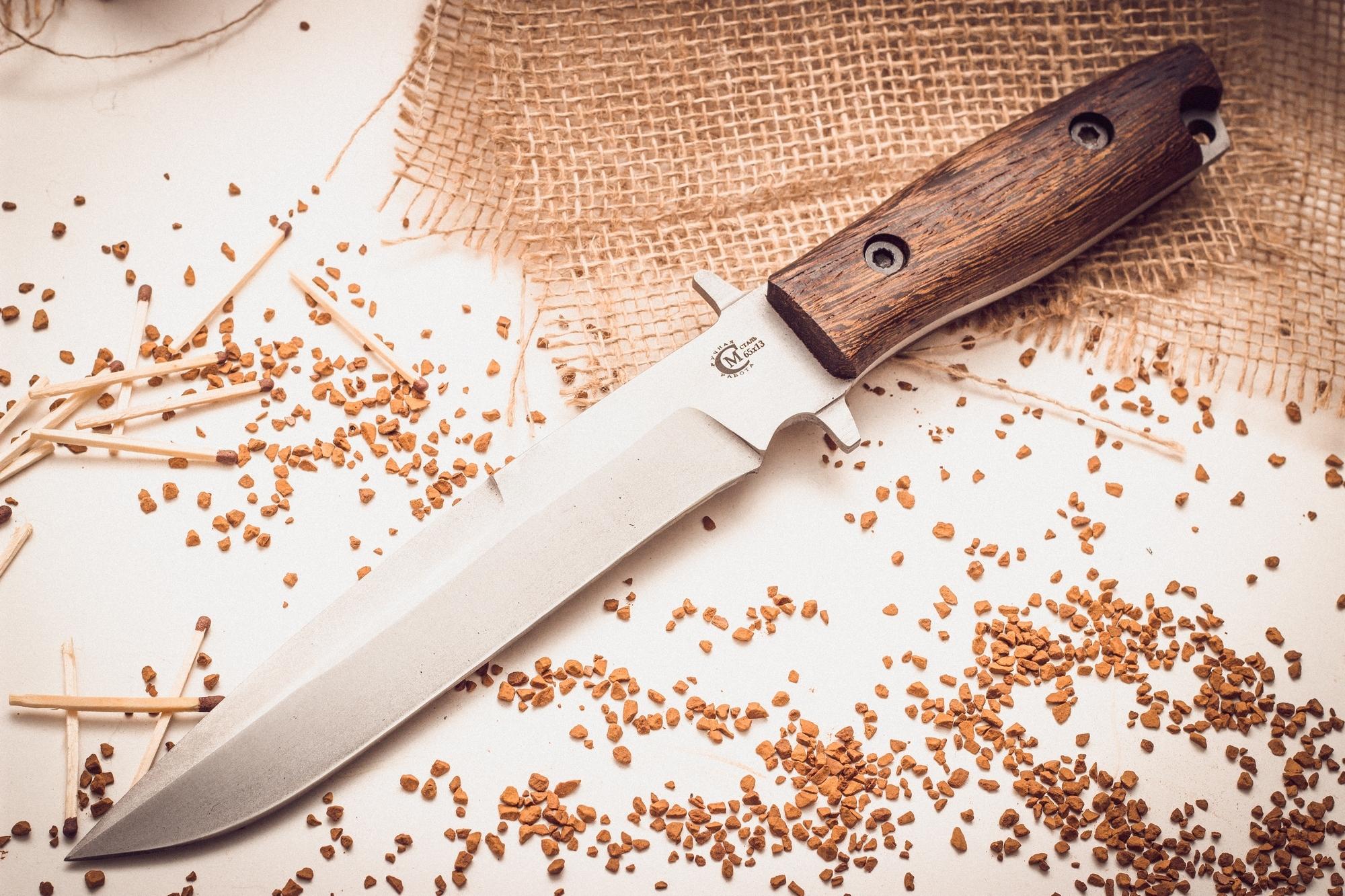 Нож Командор с отверстием для темлякаНожи Ворсма<br><br>