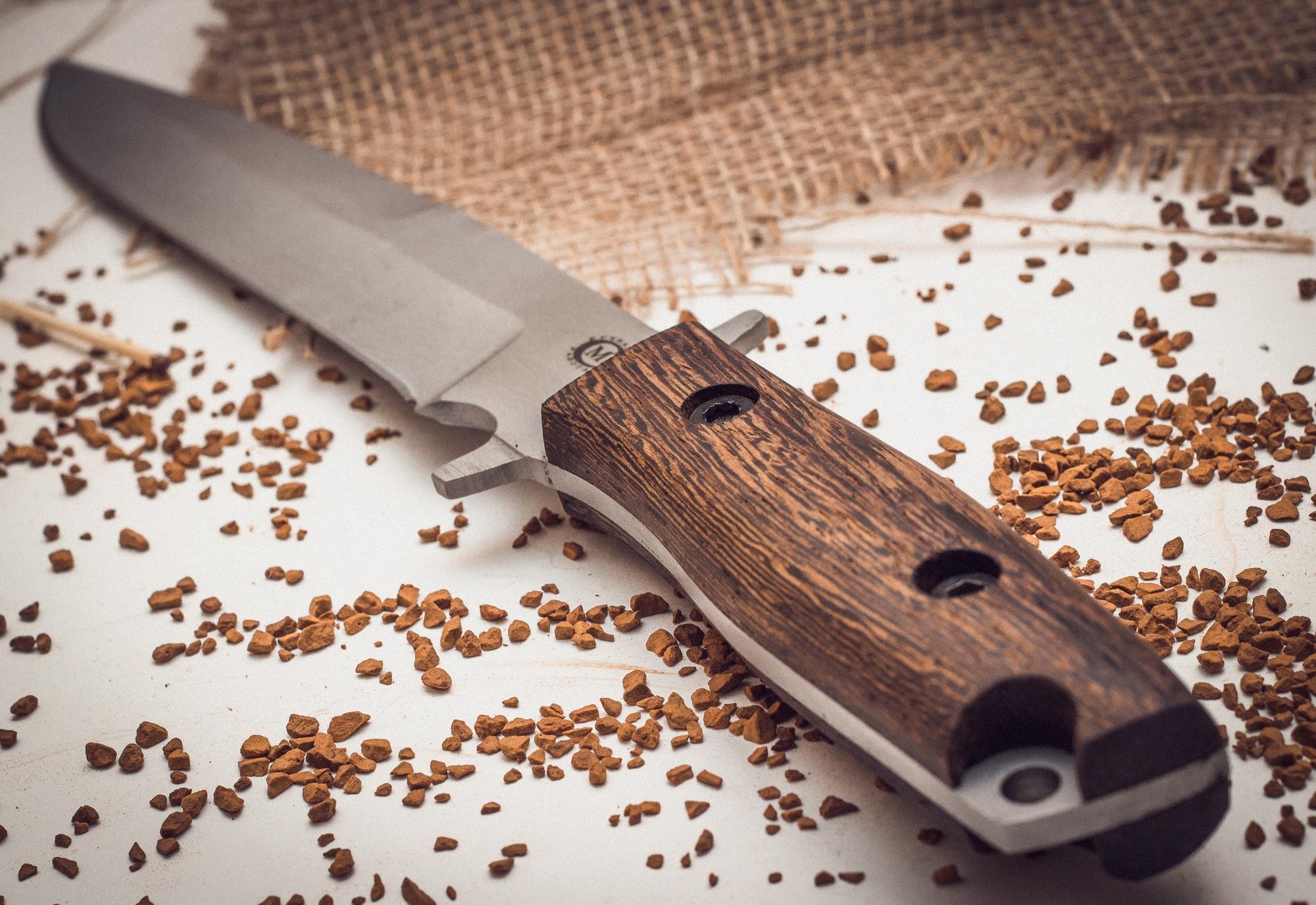 Фото 3 - Нож Командор с отверстием для темляка от Кузница Семина