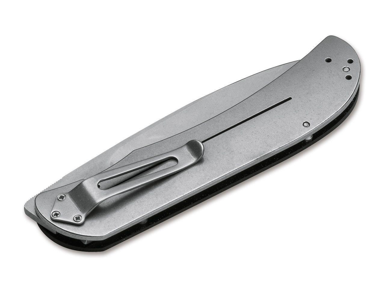 Фото 2 - Складной нож Boker Plus Exskelibur 1, лезвие Stonewashed D2 Tool Steel, Black G-10 рукоять, 01BO137