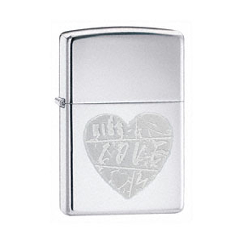 *Зажигалка  For The Love Of ChromeЗажигалки Zippo<br>Зажигалка  For The Love Of Chrome<br>