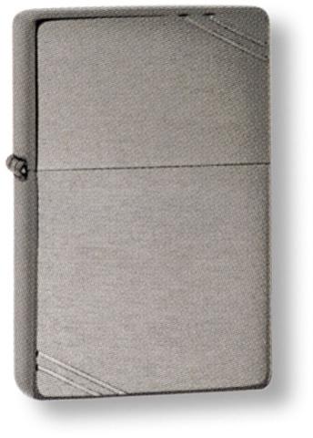 Зажигалка ZIPPO Brushed Chrome, латунь с ник.-хром.покрыт.,серебр.,матов.,36х56х12 мм