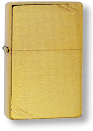 Зажигалка ZIPPO 1937 Vintage™ с покрытием Brushed Brass, латунь/сталь, золотистая, 36x12x56 мм