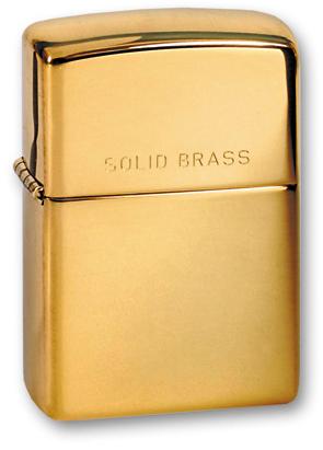 Зажигалка ZIPPO High Polish Brass, латунь, золотистый, глянцевая, 36х56х12 ммЗажигалки Zippo<br>Зажигалка ZIPPO High Polish Brass, латунь, золотой, глянцевая, 36х56х12 мм<br>