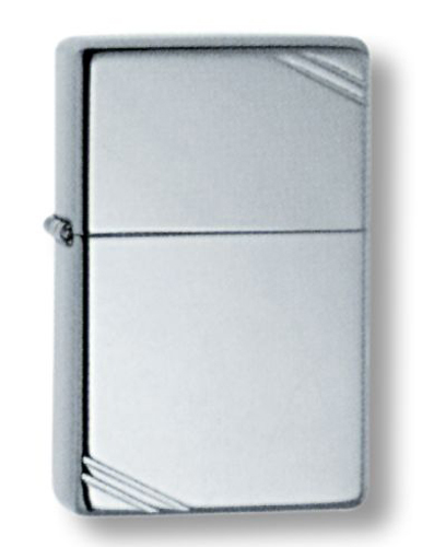 Зажигалка ZIPPO High Polish Chrome, латунь,ник.-хром.покр.,серебр.,глянц.,36х56х12мм