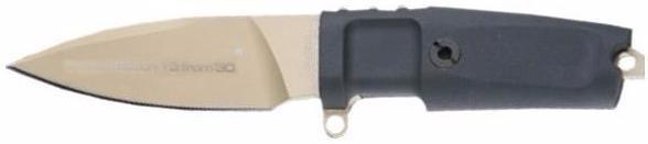 Нож с фиксированным клинком Shrapnel OG Gold LimitedОхотнику<br>Нож с фиксированным клинком Shrapnel OG Gold Limited, клинок малый, классический, под золото, рукоять черная резиновая, без верхней гарды, чехол черный пластик,подарочная черная коробка, LIM-30шт.<br>