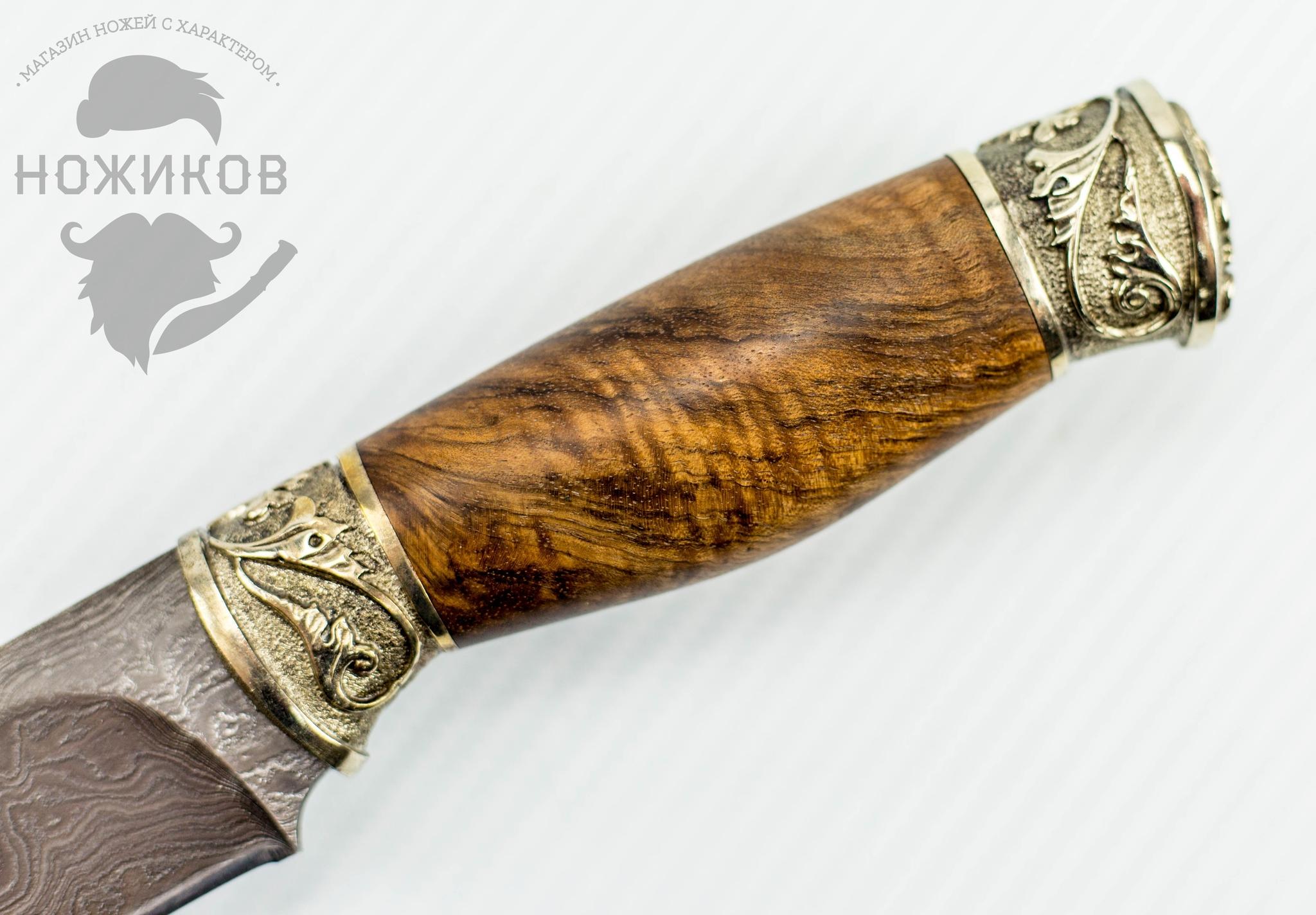 Фото 3 - Авторский Нож из Дамаска №75, Кизляр от Noname
