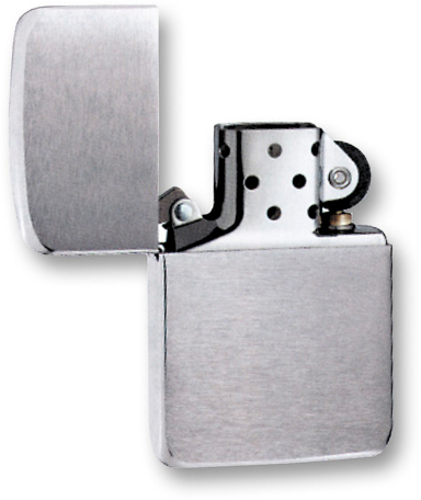 Зажигалка ZIPPO Replica Brushed Chrome, латунь с никеле-покрыт., серебр., матовая, 36х56х12 мм