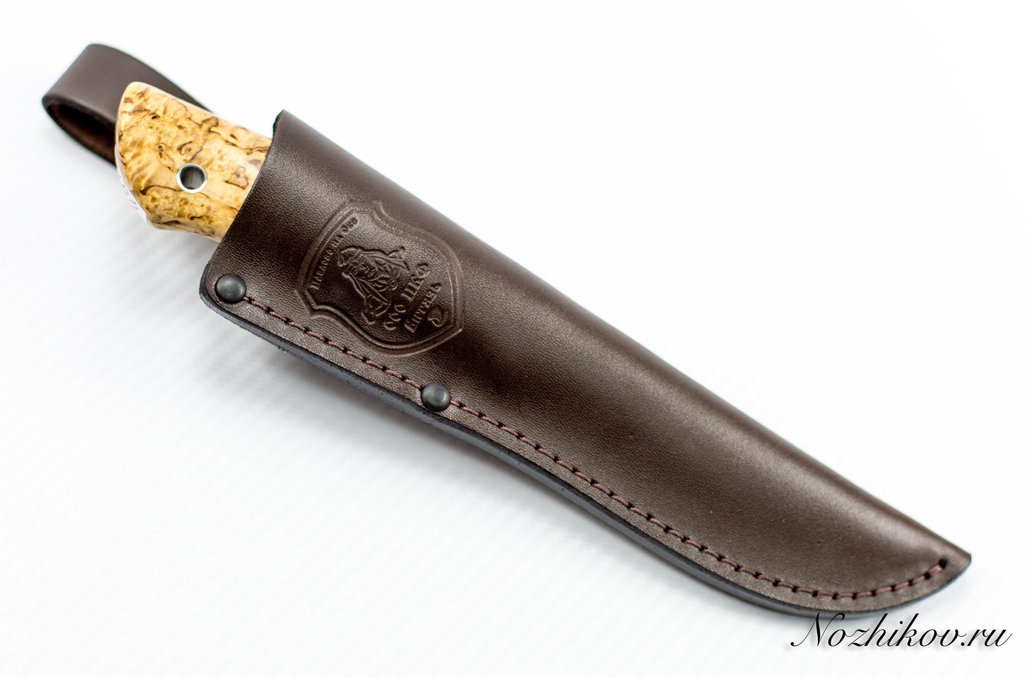 Нож Нырок, M390, коричневый