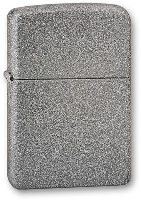 Зажигалка ZIPPO, латунь с покрытием Iron Stone™, серый, матовая, 36х12x56 ммЗажигалки Zippo<br>Зажигалка ZIPPO Iron Stone, латунь с никеле-хромовым покрытием, серебряный, матовая, 36х56х12 мм<br>