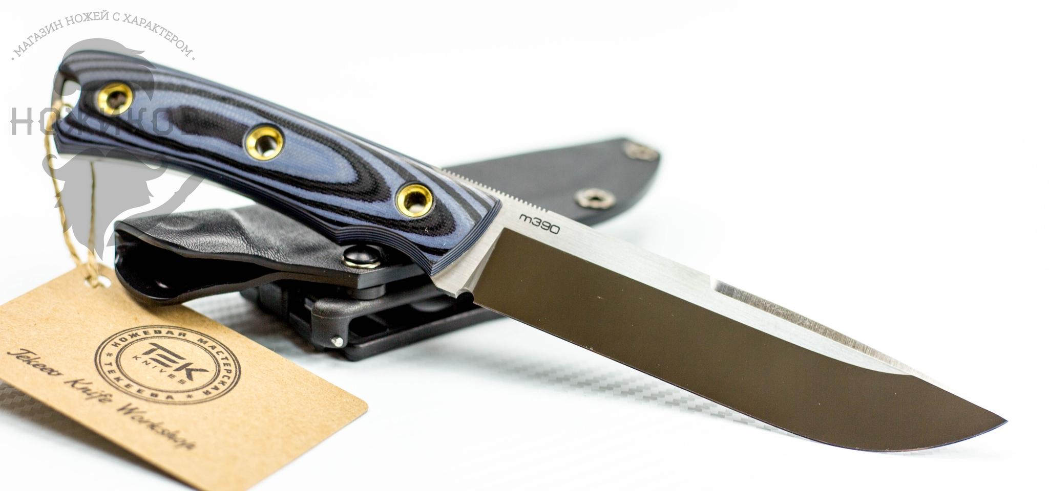 Фото 5 - Туристический нож Shark Blue, сталь M390