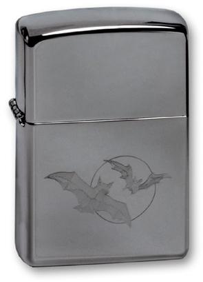 Зажигалка ZIPPO Bats High Polish Chrome, латунь с никеле-хром. покрыт., серебр., глянц., 36х56х12 ммЗажигалки Zippo<br>Зажигалка ZIPPO Bats High Polish Chrome, латунь с никеле-хромовым покрытытием, серебряный, глянцевая, 36х56х12 мм<br>