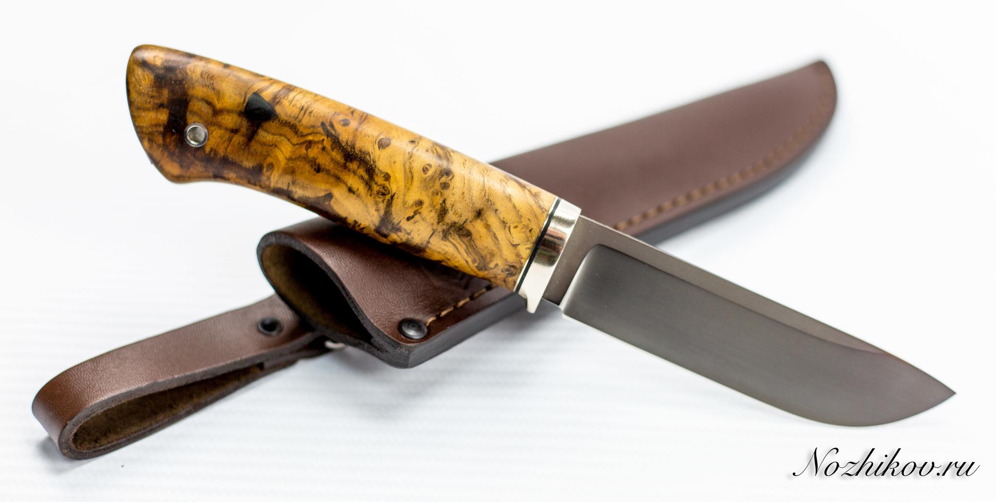 Нож Нырок, M390, коричневыйНожи Ворсма<br>Нож Клык<br>