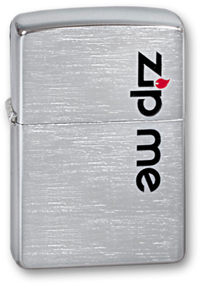 Зажигалка ZIPPO Zip Me Brushed Chrome, латунь с никеле-хром.покрыт., серебр., матов., 36х56х12 ммЗажигалки Zippo<br>Зажигалка ZIPPO Zip Me Brushed Chrome, латунь с никеле-хромовым покрытием, серебряный, матовая, 36х56х12 мм<br>