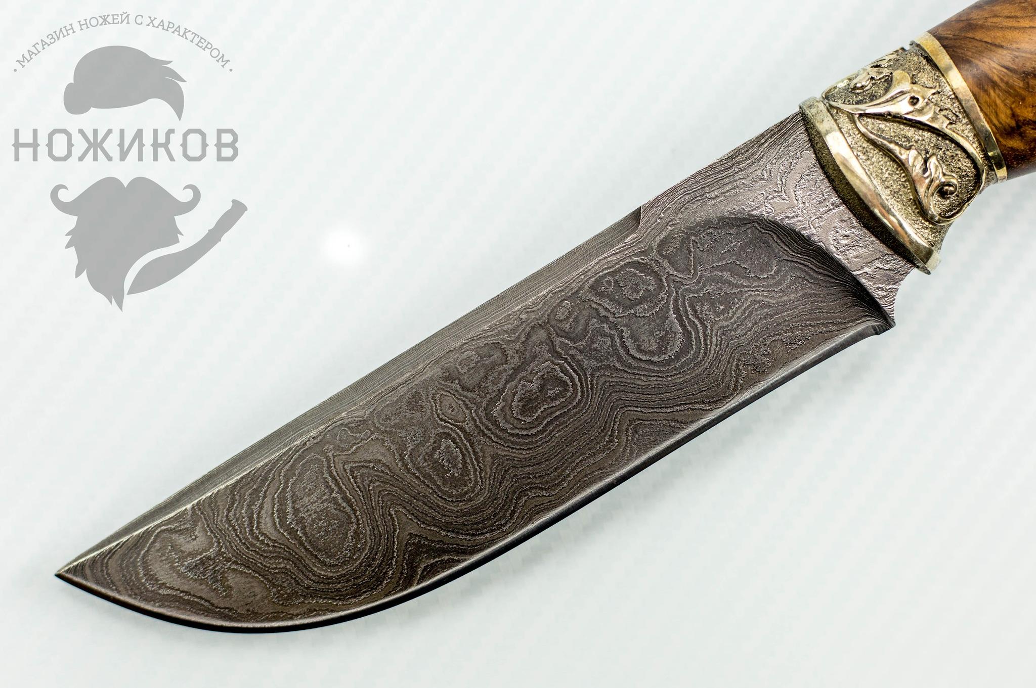 Фото 2 - Авторский Нож из Дамаска №75, Кизляр от Noname