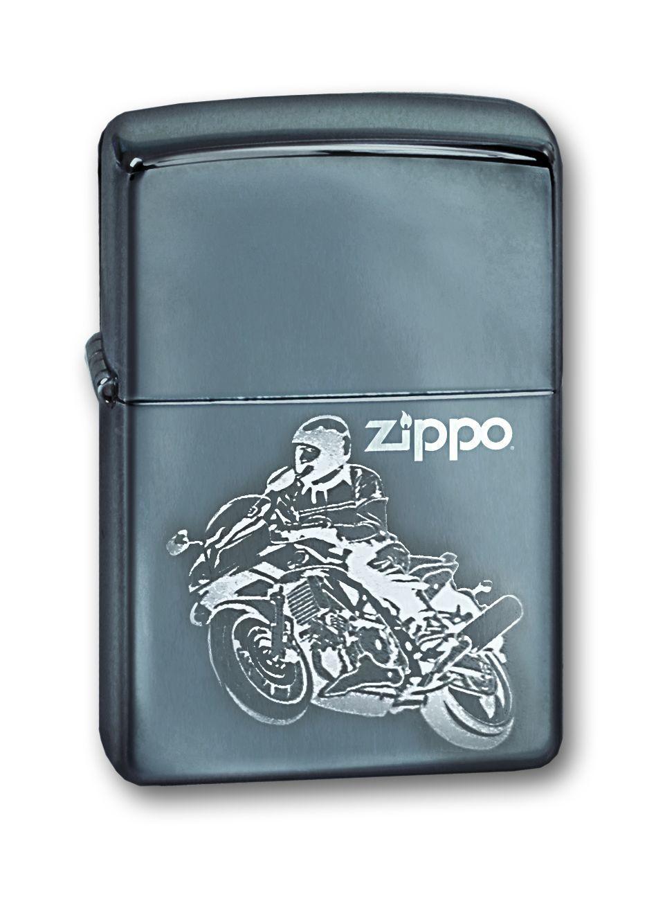 Зажигалка ZIPPO Moto High Polish Chrome, латунь с никеле-хром. покрыт., серебр., глянц., 36х56х12 мм