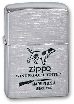 Зажигалка ZIPPO Hunting Tools Brushed Chrome, латунь с ник.хром. покрыт.,серебр.,матов., 36х56х12 ммЗажигалки Zippo<br>Зажигалка ZIPPO Hunting Tools Brushed Chrome, латунь с никеле-хромовым покрытием, серебряный, матовая, 36х56х12 мм<br>