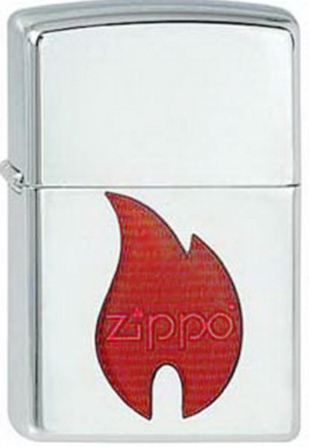 ��������� ZIPPO Orange Flame High Polish Chrome,������ � ���.-����.������.,������.,�����.,36�56�12��