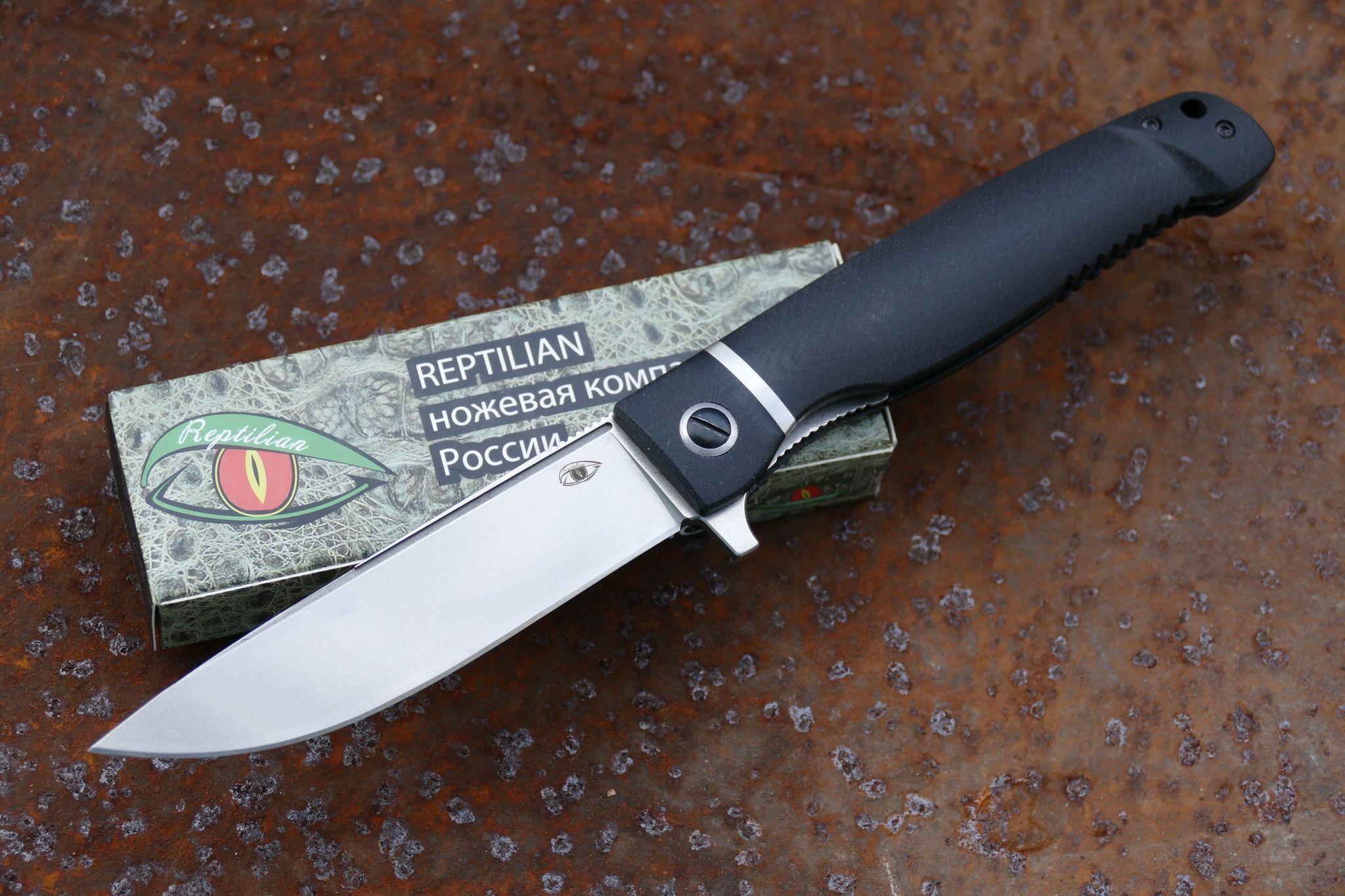 Складной нож Карат 1Раскладные ножи<br>марка стали: D2твёрдость: HRC60-61длина общая: 238ммдлина клинка: 106ммширина клинка наибольшая: 25ммтолщина обуха: 3.5ммвес: 126гртип замка: liner lockМеханизм открытия: IKBS (шарикоподшипниковая система)<br>