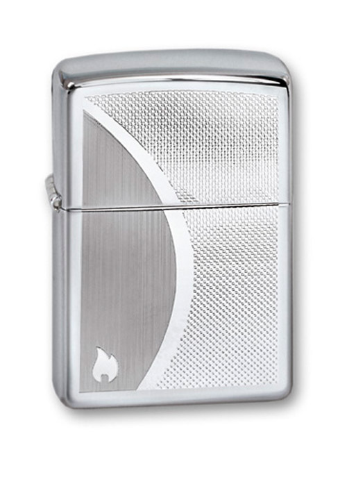 Зажигалка ZIPPO Shadow Gradiant High Polish Chrome, латунь,ник.-хром.покр.,серебр.,глянц.,36х56х12мм