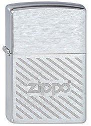 Зажигалка ZIPPO Stripes, латунь с покрытием Brushed  Chrome, серебристый, матовая, 36х12х56 ммЗажигалки Zippo<br>Зажигалка ZIPPO Stripes, латунь с покрытием Brushed  Chrome, серебряный с полосками и логотипом Zippo, матовая, 36х12х56 мм<br>