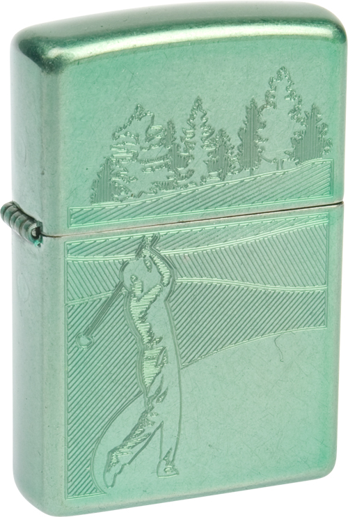 *Зажигалка 24838 Golf Range Mint GreenЗажигалки Zippo<br>Зажигалка 24838 Golf Range Mint Green<br>