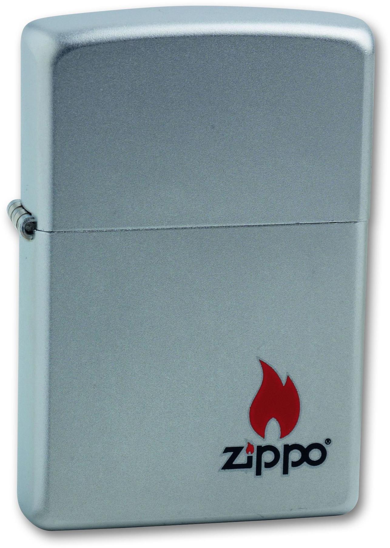Зажигалка ZIPPO Satin Chrome, латунь с ник.-хром. покрыт.,серебр.,матовая, 36х56х12мм