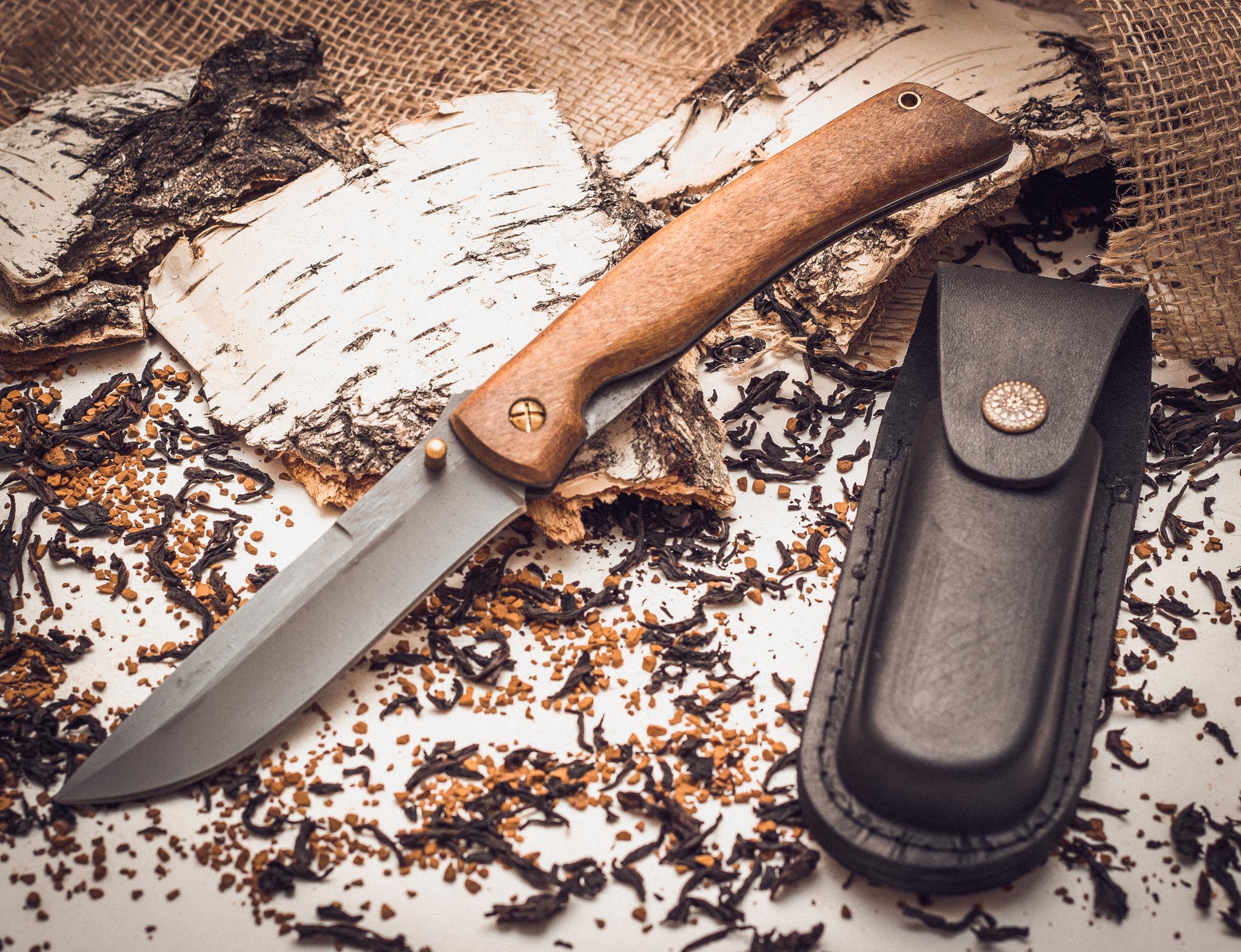 Фото 3 - Складной нож Кочевник из стали 95х18, орех от Марычев