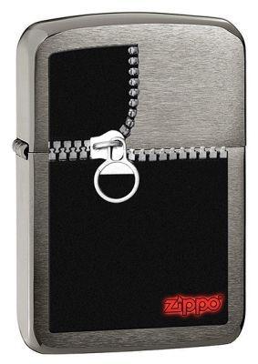Зажигалка ZIPPO Zipped Black Ice®, латунь с никеле-хром.покрыт.,серебр.,матов.,36х56х12 ммЗажигалки Zippo<br>Зажигалка ZIPPO Zipped Brashed Chrome, латунь с никеле-хромовым покрытием, серебряный, матовая, 36х56х12 мм<br>