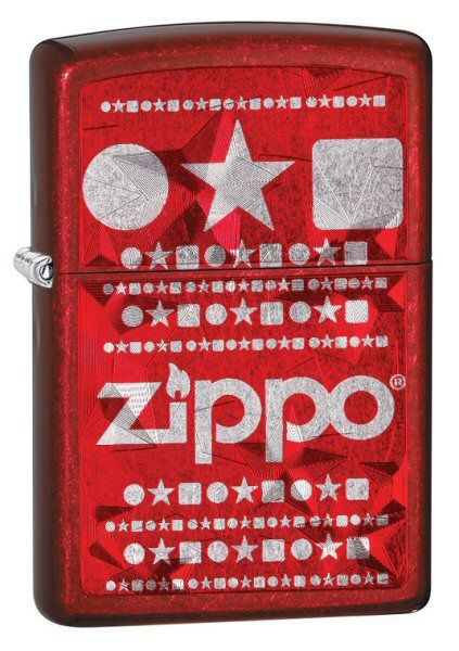 Зажигалка ZIPPO Candy Apply Red, латунь с никеле-хром.покрыт, красный, матов, 36х56х12 мм зажигалка zippo stars candy apply red