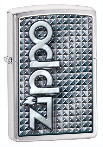 Зажигалка ZIPPO Brushed Chrome,латунь с никеле-хром.покрыт.,серебр.,матов.,36х56х12 ммЗажигалки Zippo<br>Зажигалка ZIPPO Brashed Chrome, латунь с никеле-хромовым покрытием, серебряный, матовая, 36х56х12 мм<br>