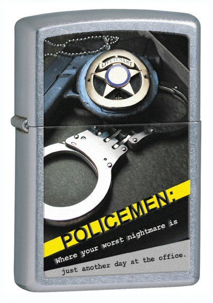 Зажигалка ZIPPO Street Chrome, латунь с никеле-хромовым покрытием, серебристый, матовая, 36х56х12 мм