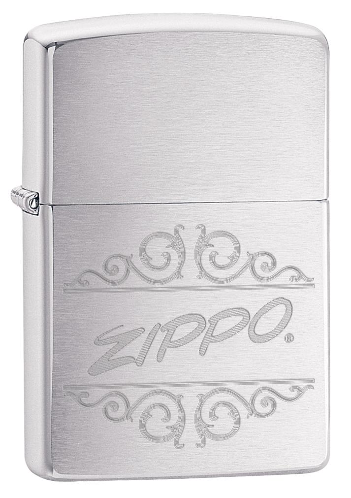 Зажигалка ZIPPO 200 Zippo с покрытием Brushed Chrome, латунь/сталь, серебристая, 36x12x56 мм зажигалка zippo rolling stones с покрытием satin chrome™ латунь сталь серебристая 36x12x56 мм