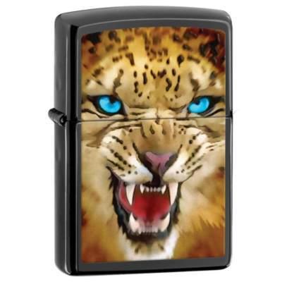 Зажигалка ZIPPO Leopard Ebony, латунь с ник.-хром.покрыт., серебр.,глянц.,36х56х12мм зажигалка zippo ebony w zippo lasered 24756zl