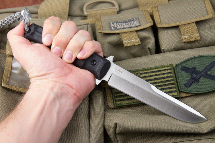 Тактический нож Trident D2 Satin, Kizlyar Supreme
