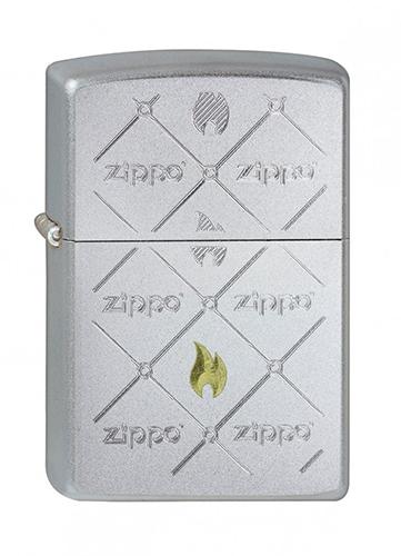 Зажигалка ZIPPO Zippos, латунь с никеле-хромовым покрытием, серебристый, матовая, 36х12x56 ммЗажигалки Zippo<br>Зажигалка ZIPPO Zippos, латунь с никеле-хромовым покрытием, серебряный, матовая, 36х12x56 мм<br>