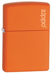 Зажигалка ZIPPO Classic, латунь с покрытием Orange Matte, оранжевый, матовая, 36х12x56 мм