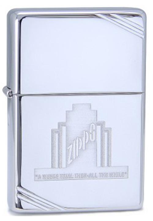 Зажигалка ZIPPO Classic, латунь с покрытием High Polish Chrome, серебристый, глянцевая, 36х12x56 мм зажигалка zippo abyss classic латунь с покрытием фиолетовый глянцевая 36х12x56 мм
