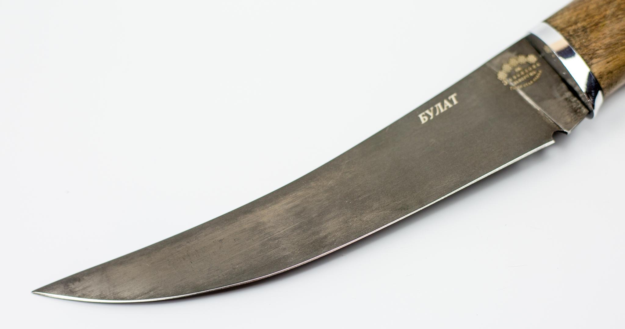 Фото 3 - Нож филейный Нерпа , сталь булат от Кузница Завьялова