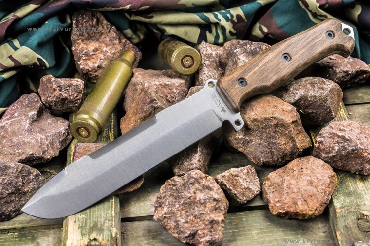 Фото 2 - Нож выживания Survivalist X AUS-8 SW в орехе, Кизляр