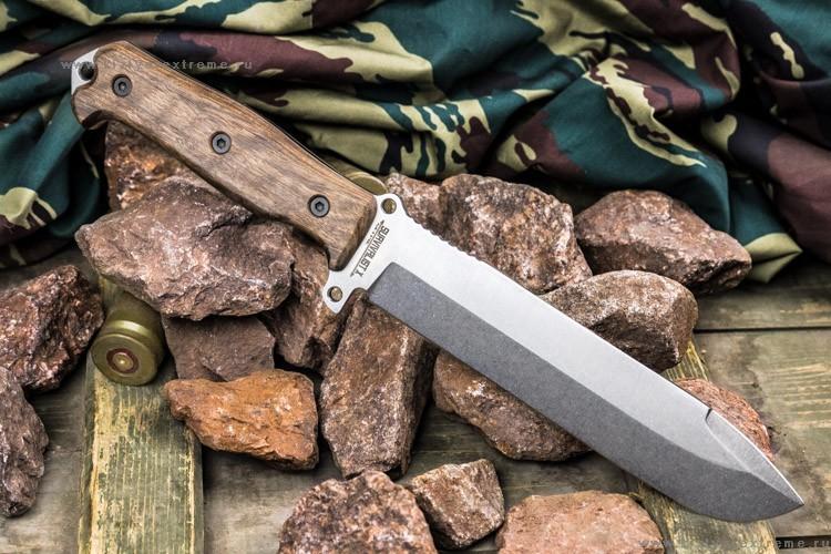 Фото - Нож выживания Survivalist X AUS-8 SW в орехе, Кизляр