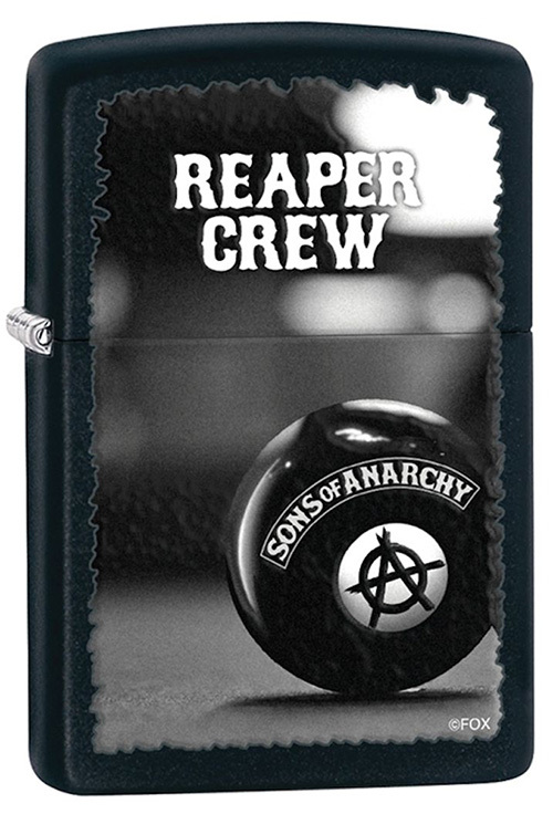 Зажигалка ZIPPO Reaper Crew, латунь с покрытием Black Matte, черный, матовая, 36х12x56 мм the ssd circuit board ssd pcba jmf612 jmf604 controller diy ssd sata3gb s interface ssd pcba flash interface tsop48