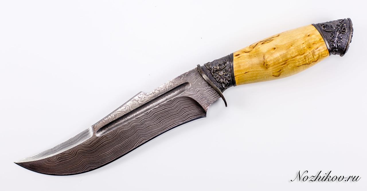 Авторский Нож из Дамаска №14, Кизляр авторский нож из дамаска 11 кизляр