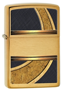 Зажигалка ZIPPO Gold & Black, латунь с покрытием Brushed Brass, золотистая с орнаментом, 36х12x56 мм free shipping european style brass black oil brushed solid brass bathroom soap holder soap basket bathroom accessories