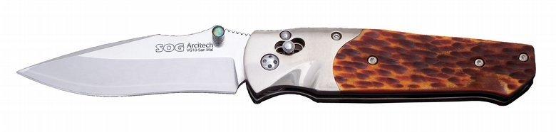 Фото - Складной нож Arcitech - SOG A01, сталь VG-10 / Laminated 420J2, рукоять кость