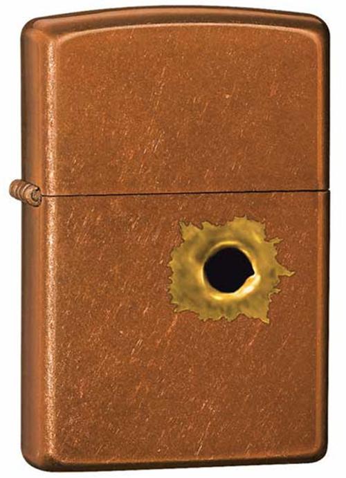 Зажигалка ZIPPO Bullet с покрытием Toffee™, латунь/сталь, светло-коричневая, матовая, 36x12x56 мм
