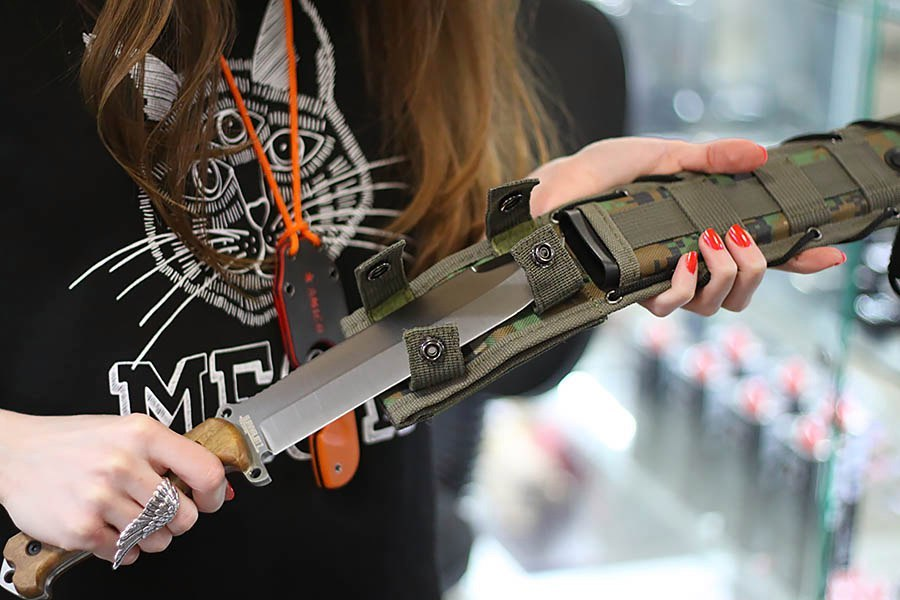 Фото 4 - Нож выживания Survivalist X AUS-8 SW, орех, Kizlyar Supreme