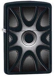 Зажигалка ZIPPO Classic, латунь с покрытием Black Matte, чёрный, матовая, 36х12x56 мм зажигалка zippo abyss classic латунь с покрытием фиолетовый глянцевая 36х12x56 мм